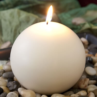 Spiritual needs - close up of a candle in chapel room