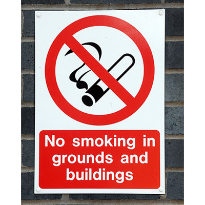 No smoking in grounds and buildings