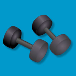 Picture of weights