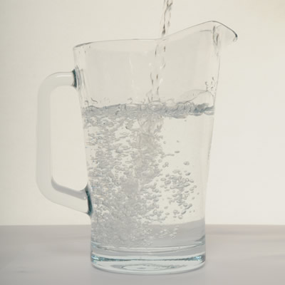 A jug of drinking water